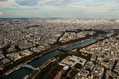 panorama- paris sikt Royaltyfri Bild