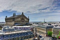 panorama- paris sikt Arkivbild