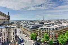 panorama- paris sikt Arkivfoto