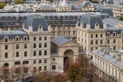 panorama paris Sikt från domkyrkan av vår dam av Paris Royaltyfria Bilder