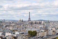 panorama paris Sikt från domkyrkan av vår dam av Paris Arkivbilder