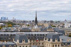 panorama paris Sikt från domkyrkan av vår dam av Paris Royaltyfri Bild