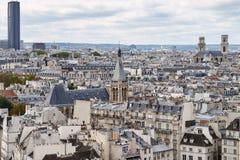 panorama paris Sikt från domkyrkan av vår dam av Paris Arkivfoto