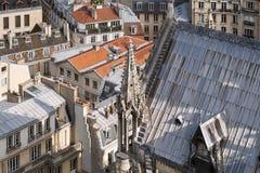 panorama paris Sikt från domkyrkan av vår dam av Paris Royaltyfri Fotografi