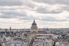 panorama paris Sikt från domkyrkan av vår dam av Paris Fotografering för Bildbyråer