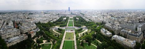 Panorama Paris, south-east Stock Photo