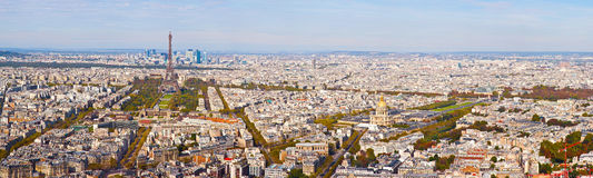 Panorama of Paris.  Top view Stock Images