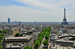 Panorama of Paris Royalty Free Stock Photos