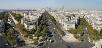 Paris from Triumph Arch Royalty Free Stock Photos