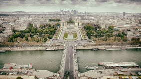 Panorama of Paris, the Trocadero and La Defense. Stock Images