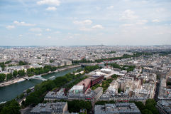 Panorama of Paris view on Champ de Mars from the Eiffel Tower . Stock Photos