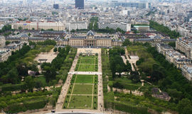 Panorama of Paris. View from Eiffel tower Stock Photos