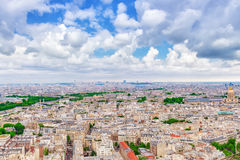Panorama of Paris view from the Eiffel tower. Stock Photography