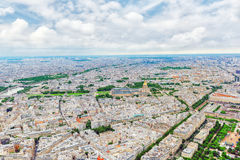 Panorama of Paris view from the Eiffel tower. Royalty Free Stock Photos