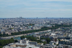 Panorama of Paris. View from Eiffel Tower. France. Panorama of Paris. View from the top of Eiffel Tower. France Stock Photo