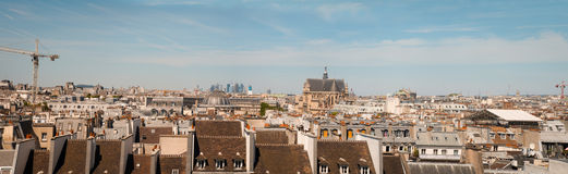 Panorama of Paris, the view from the Pompidou Center . Royalty Free Stock Photos