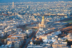 Panorama of Paris in winter afternoon Royalty Free Stock Image