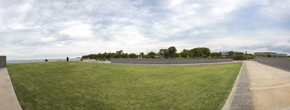 Panorama of the Park of the Memory in Buenos Aires, Argentina Stock Photo