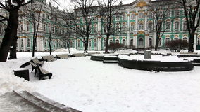 Panorama Park near Hermitage in winter Royalty Free Stock Images