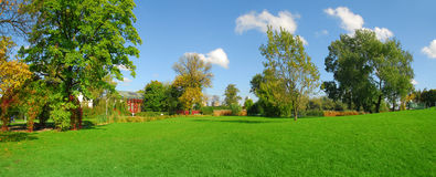 panorama- parksikt Arkivbilder