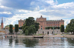 Panorama of Parliament House, Stockholm Stock Photos