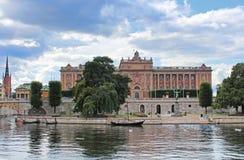 Panorama of Parliament House, Stockholm stock photos