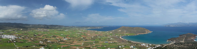 Panorama of Paros, Greece Royalty Free Stock Photos