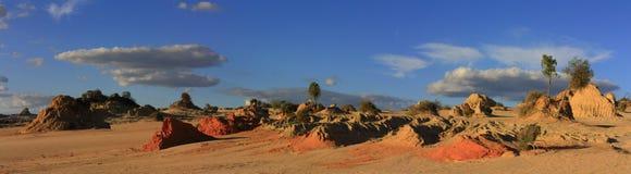 Panorama - parque nacional do Mungo, NSW, Austrália Foto de Stock