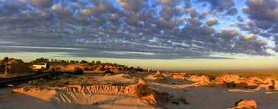 Panorama - parque nacional do Mungo, NSW, Austrália Fotografia de Stock Royalty Free