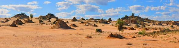 Panorama - parque nacional do Mungo, NSW, Austrália Imagem de Stock
