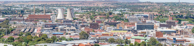 Panorama of part of the Central Business District in Bloemfontei Stock Photography