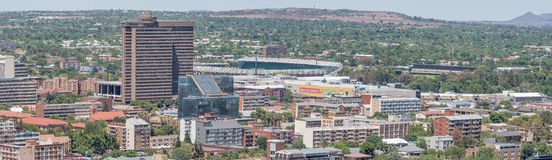 Panorama of part of the Central Business District in Bloemfontei Royalty Free Stock Images