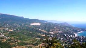 Panorama Parteniita van ayu-Dag stock footage