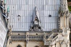 panorama Paryża Widok od katedry Nasz dama Paryż Obraz Stock