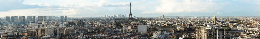 Panorama Paryż zdjęcia royalty free