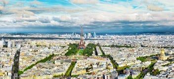 Panorama Paryż Zdjęcie Royalty Free