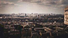 Panorama Paryż od Montmartre Zdjęcie Stock