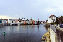 Panorama of Passau in Germany Royalty Free Stock Images