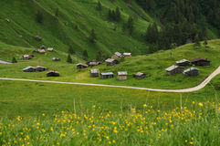 Panorama at Passo Fedaia, Val di Fassa, Dolomites Stock Photo