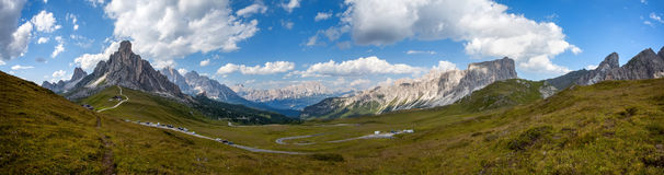 Panorama Passo Giau Stock Photos