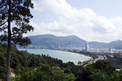 Panorama of Patong Beach Royalty Free Stock Photo