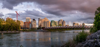 Panorama of the Peace Bridge Stock Images