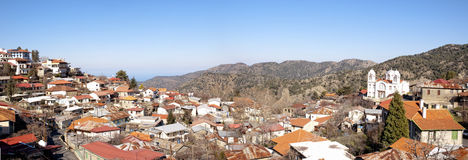 panorama- pedoulas visar byn Royaltyfria Foton