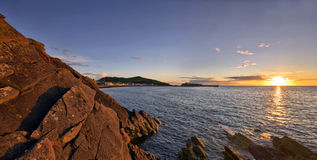 Panorama of Peel during sunset Royalty Free Stock Photography