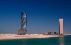 Panorama pejzażu miejskiego wiew Manama miasto, Bahrajn Obrazy Stock