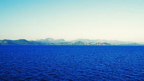 Panorama of Peljesac Peninsula stock footage