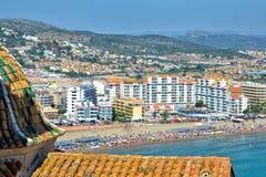 Panorama of Peniscola, Spain Stock Photo