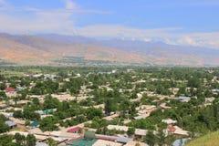 The panorama of Penjikent city, Tajikistan Stock Photography