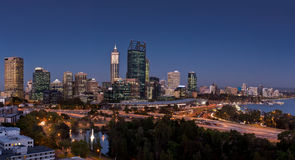 Perth at sunset. Panorama of Perth city at sunset Royalty Free Stock Images