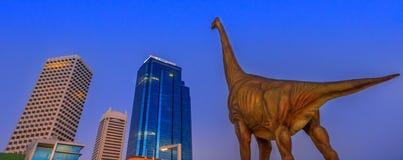 Panorama Perth Skyline Dinosaur Stock Photography
